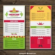 menu restaurante